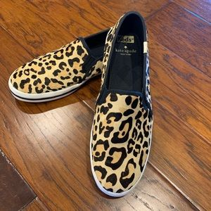 Keds x Kate Spade Leopard Calf Hair Slipon 9.5